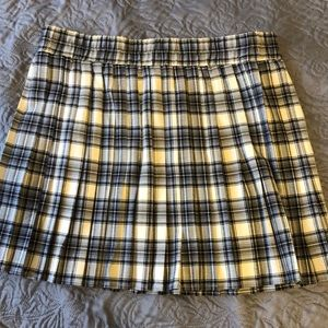 Wild Fable Pleated Plaid Skirt